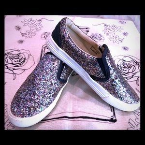 Slip on sparkly sneakers